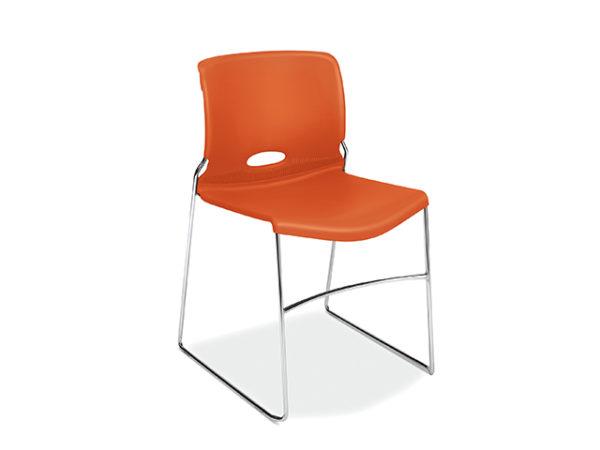 hon olson stack chair orange