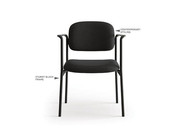 accomodate guest chair black fabric front with features 2
