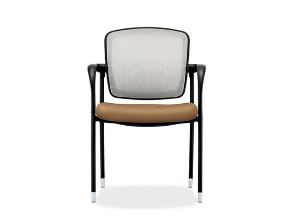 accomodate guest chair black frame gray seat back fabric