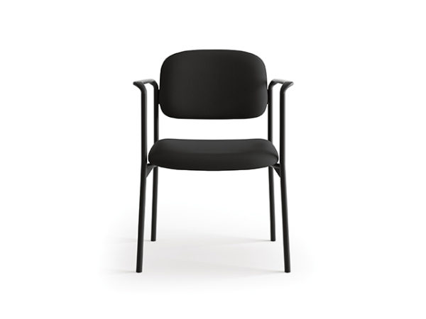 accomodate guest chair black with arms