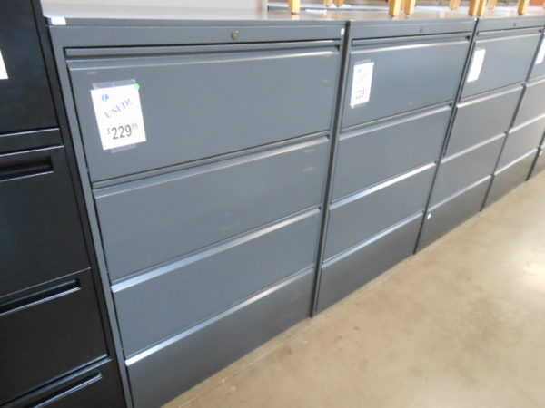 4 drawer steelcase charcoal lateral file
