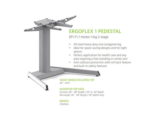 Ergoflex 1 Pedestal