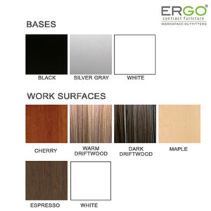 ergo work surface color options