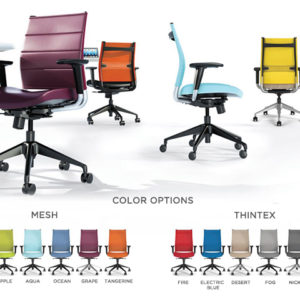 wit THINTEX SEAT BACK color options