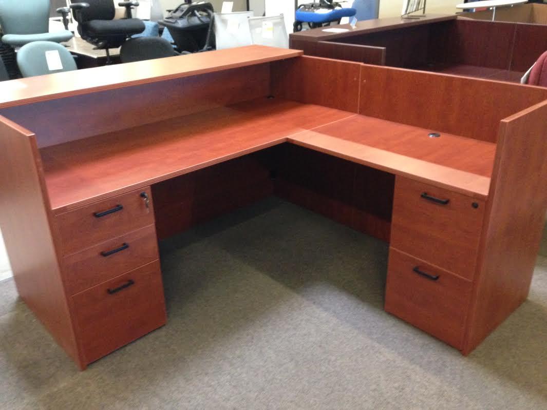 Used Desk For Sale >> NEW! Cherryman Amber Reception Desk - Arizona Office Furniture