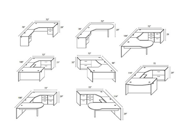 2100 series typical desk configurations
