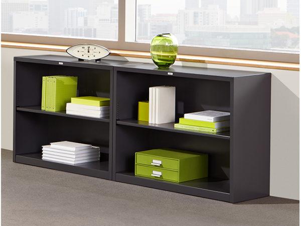 hon 2 shelf bookcase gray