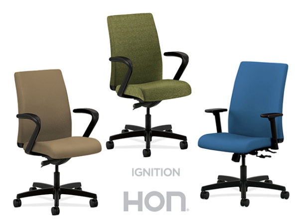 hon ignition fabric high back task chair