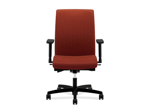 igntion fabric mid back task chair red