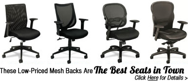 Low priced Mesh Back Office Chairs - click here for details