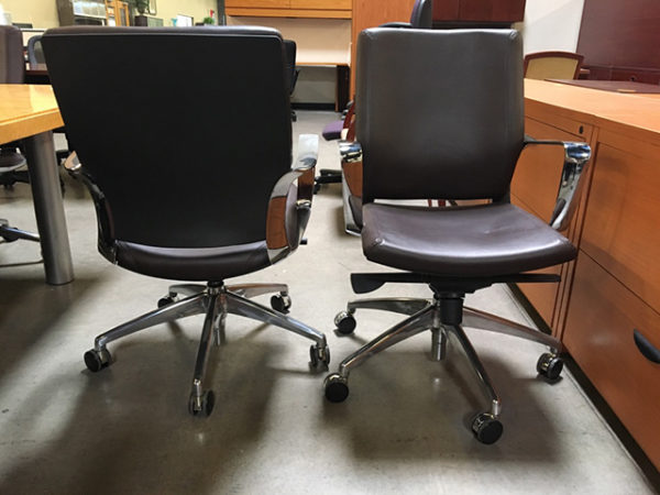 brown leather conference chairs