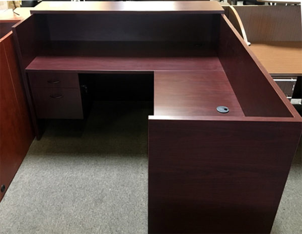 case reception desk rear view
