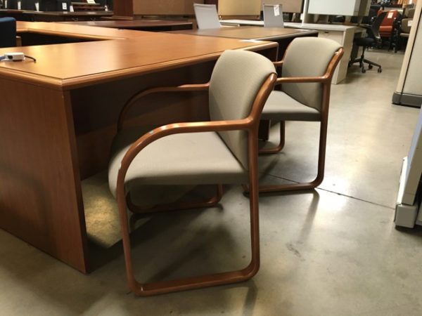 steelcase sled base chair x 2