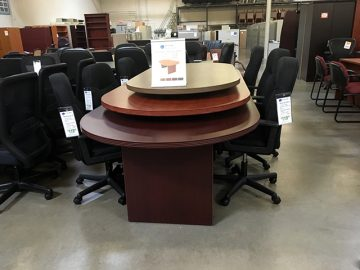 used racetrack conference table stack