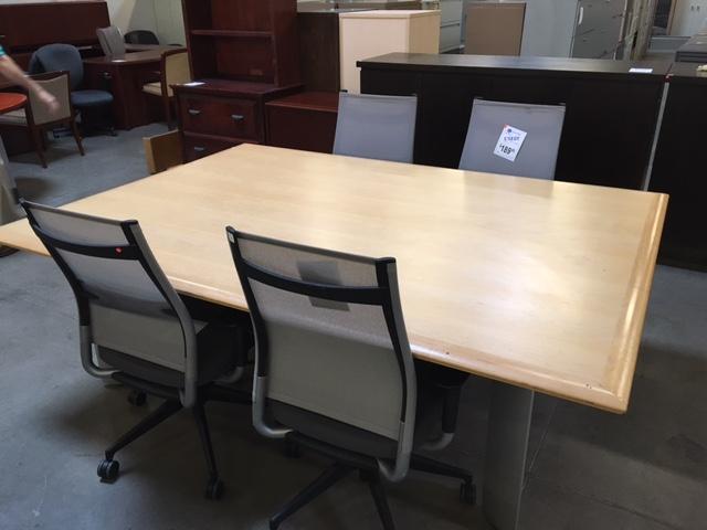 Used 7 Rectangle Conference Table Maple Veneer Arizona