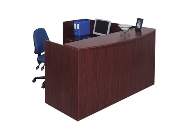 case 2 k reception desk mahogany