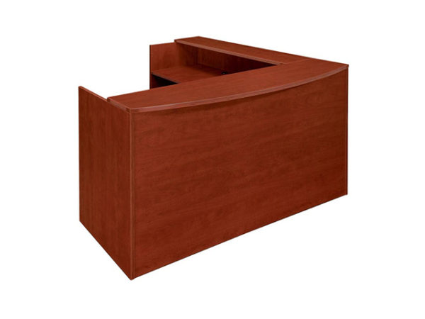case 2 k reception desk cherry