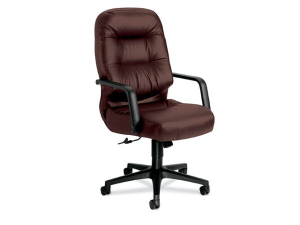 high-back-conf-chair-pillow-soft-burgandy-leather