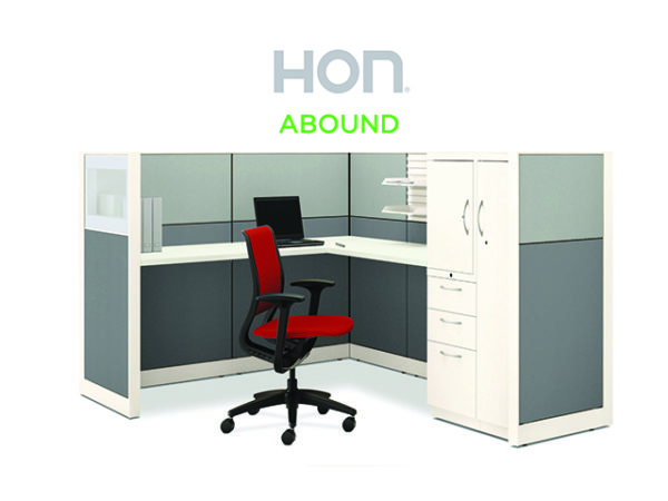 HON ABOUND WORKSTATION SINGLE