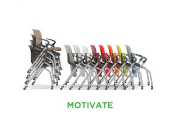 HON Motivate folding nesting chair stack main image