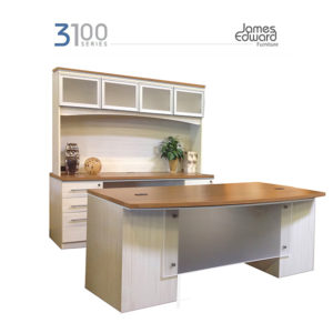 3100 series james edwards asian sand white laminate desk set