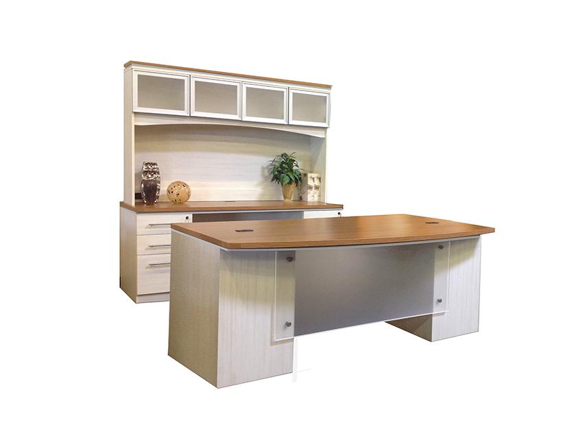 James Edwards Asian Sand White Laminate Desk Set