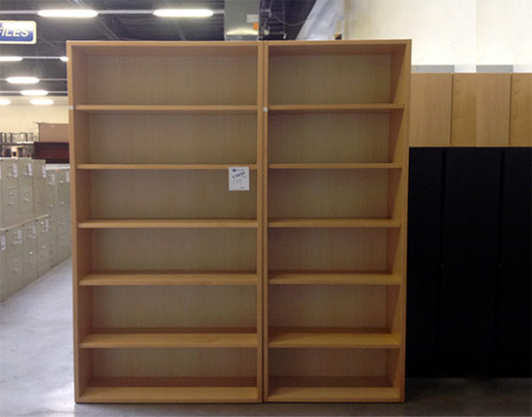 Used Wood bookcase 6 shelf
