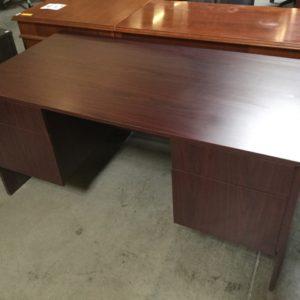 case mahogany Small office desk