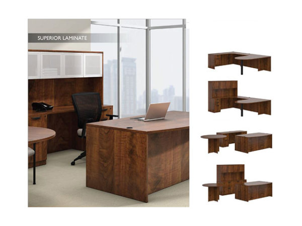 otg walnut laminate desks