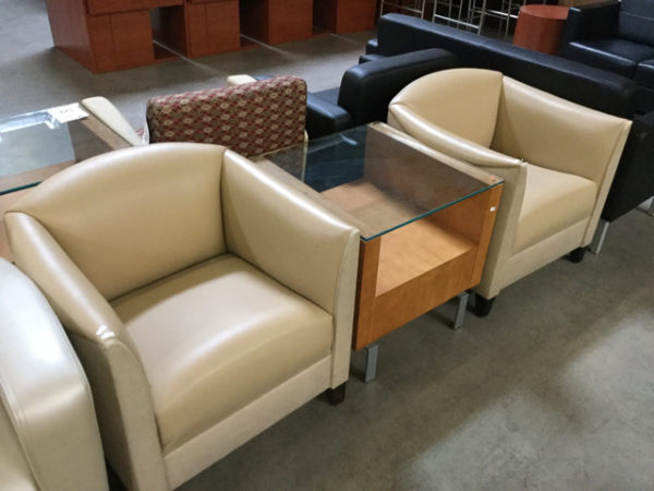 Lobby reception chairs