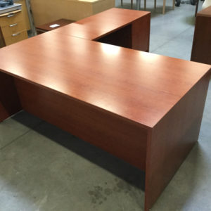 Cherry l shape desk