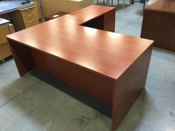 Cherry l shape desk