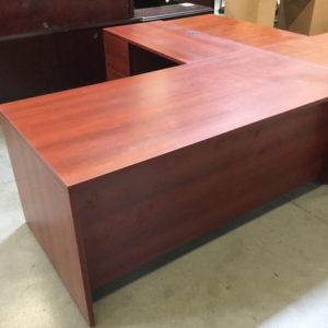 L shape desk cherry