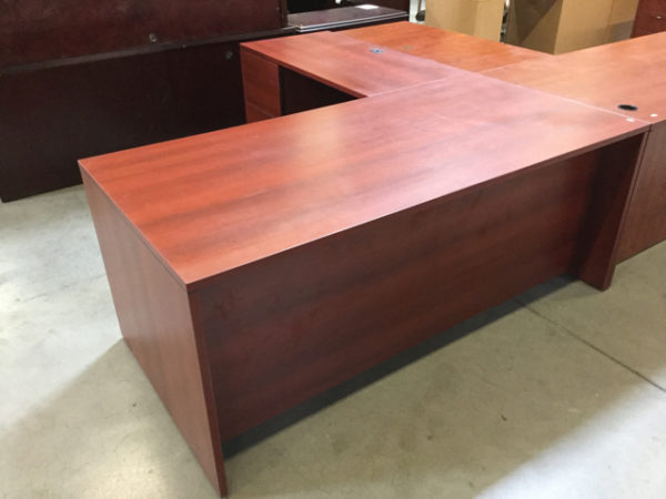L shape desk cherry