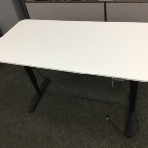 Electric sit to stand table