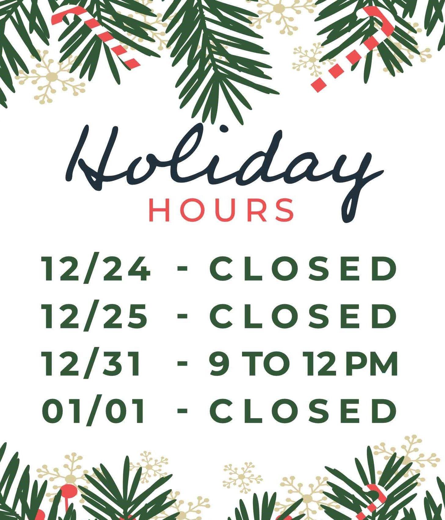 Arizona Office holiday hours