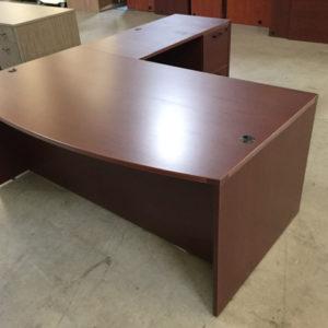Bowfront l shape desk