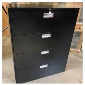 HON 42H 4 drawer lat file black